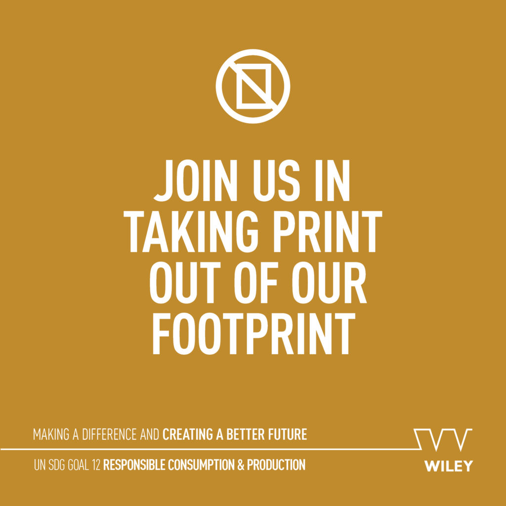 Join us in taking print out of our footprint - UN SDG 12 Responsible consumption and production